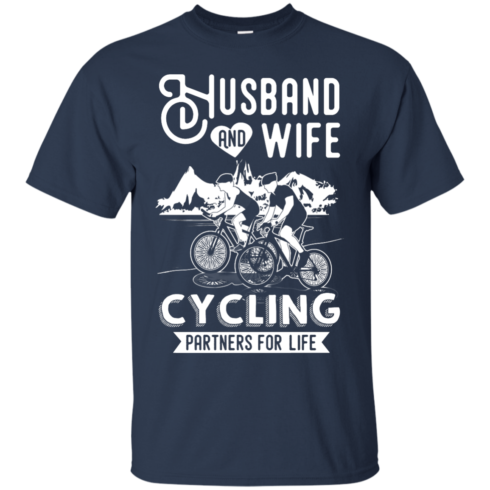 image 222 490x490px Husband and Wife Cycling Partners For Life T Shirt