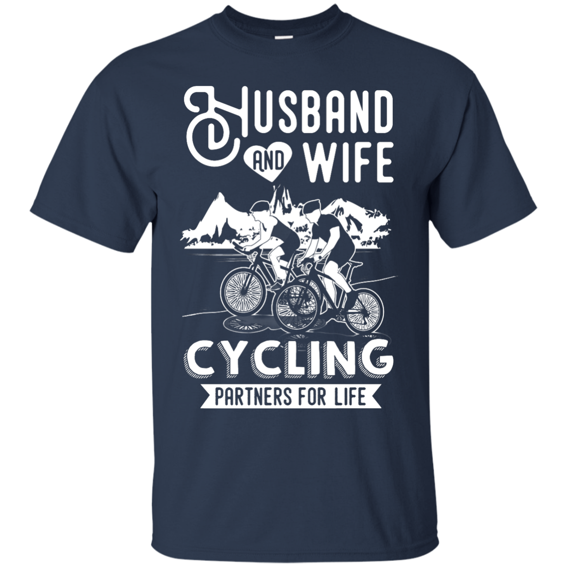 image 222px Husband and Wife Cycling Partners For Life T Shirt