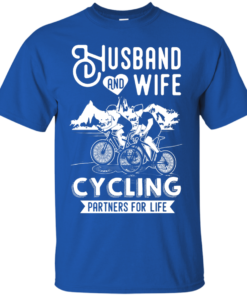 image 223 247x296px Husband and Wife Cycling Partners For Life T Shirt