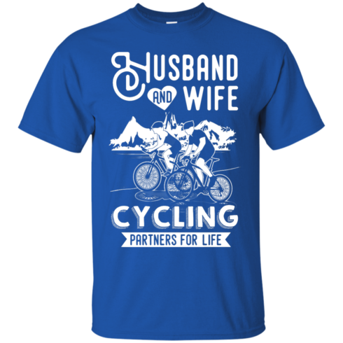 image 223 490x490px Husband and Wife Cycling Partners For Life T Shirt