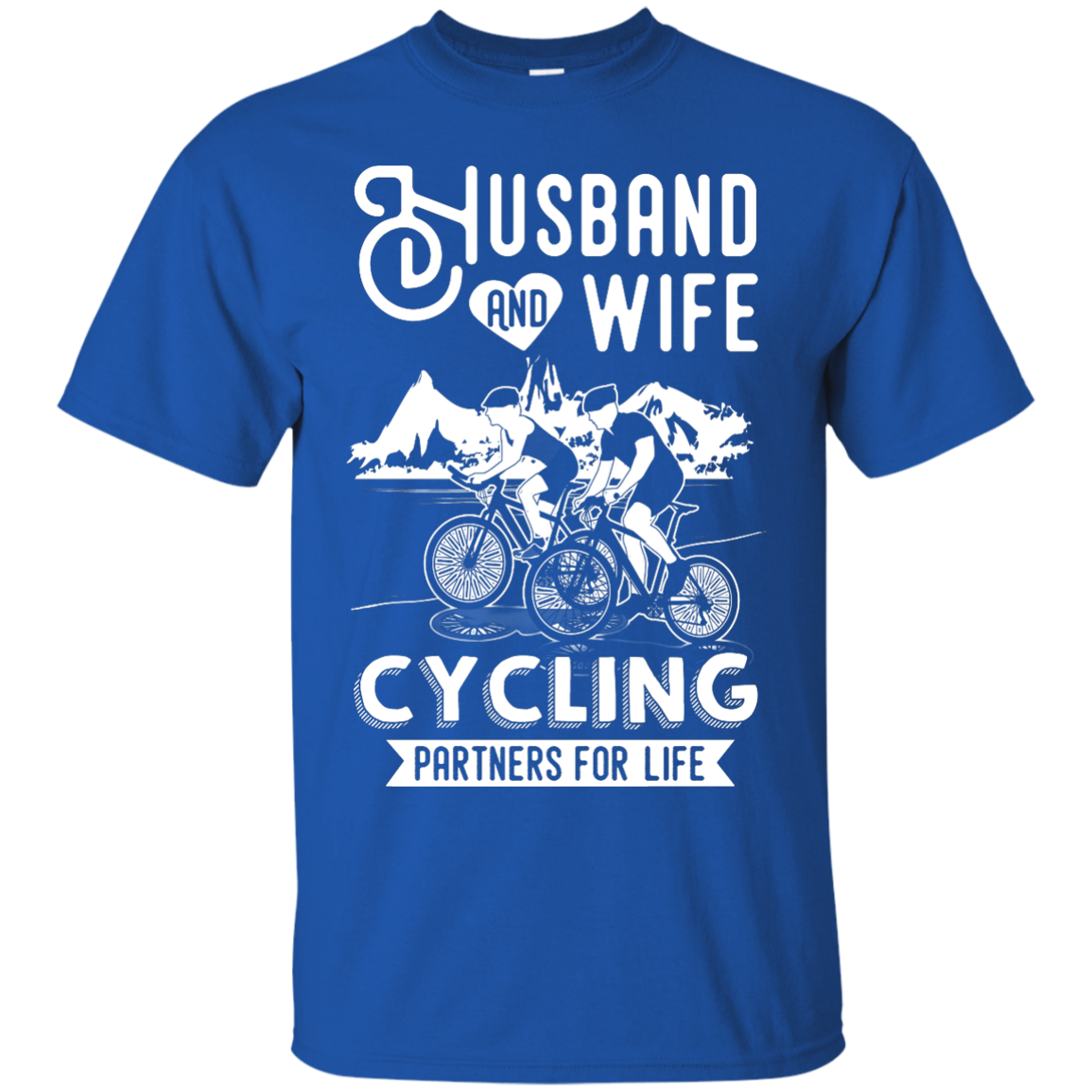 image 223px Husband and Wife Cycling Partners For Life T Shirt