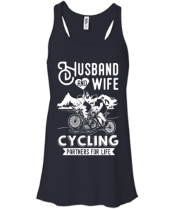image 224 247x296px Husband and Wife Cycling Partners For Life T Shirt