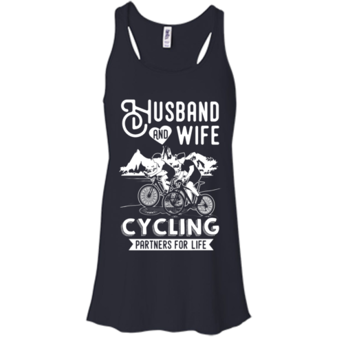 image 224 490x490px Husband and Wife Cycling Partners For Life T Shirt