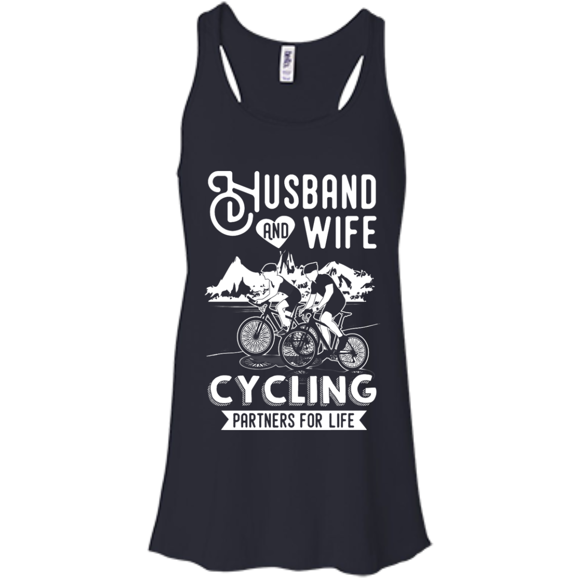image 224px Husband and Wife Cycling Partners For Life T Shirt