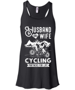 image 225 247x296px Husband and Wife Cycling Partners For Life T Shirt