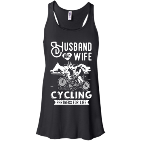 image 225 490x490px Husband and Wife Cycling Partners For Life T Shirt