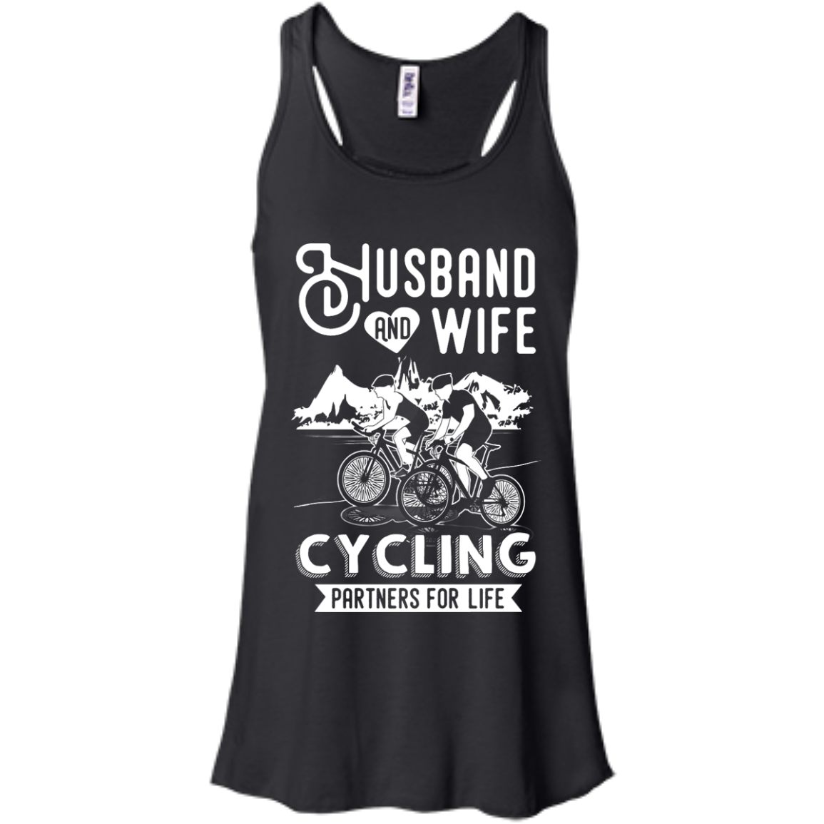 image 225px Husband and Wife Cycling Partners For Life T Shirt