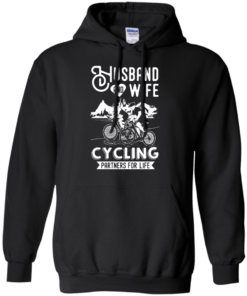 image 226 247x296px Husband and Wife Cycling Partners For Life T Shirt