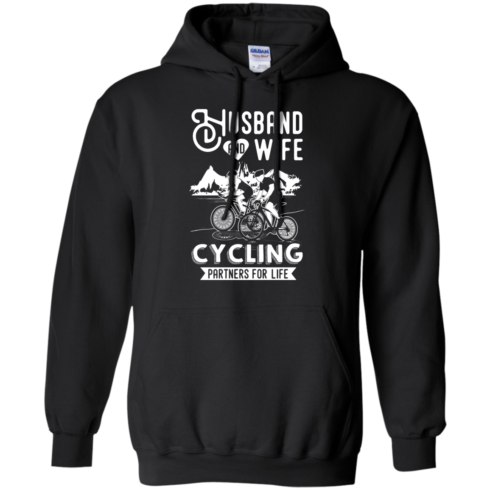 image 226 490x490px Husband and Wife Cycling Partners For Life T Shirt