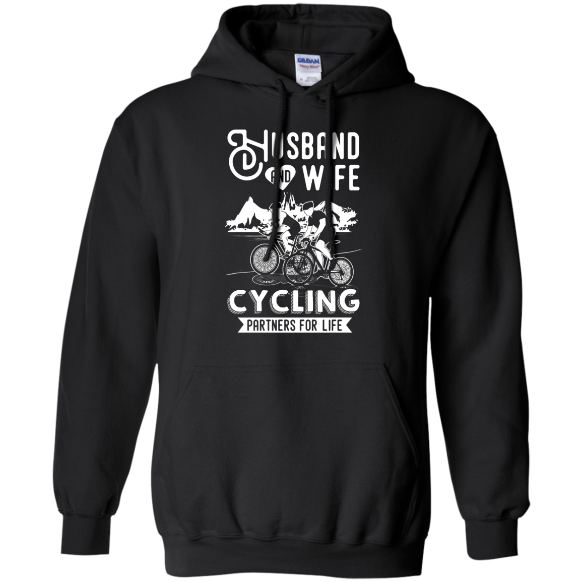image 226px Husband and Wife Cycling Partners For Life T Shirt