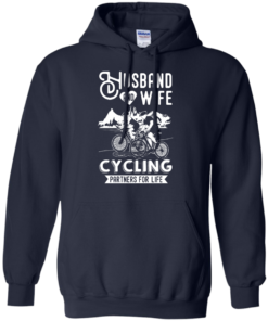 image 227 247x296px Husband and Wife Cycling Partners For Life T Shirt