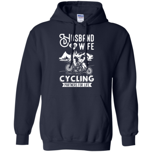 image 227 490x490px Husband and Wife Cycling Partners For Life T Shirt