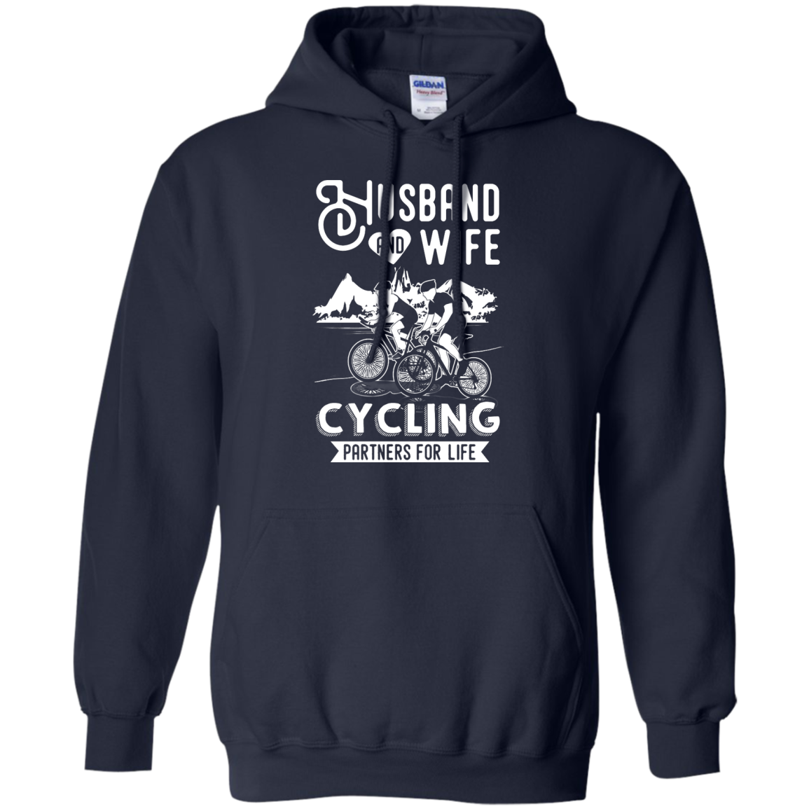 image 227px Husband and Wife Cycling Partners For Life T Shirt