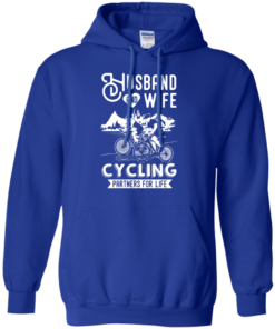 image 228 247x296px Husband and Wife Cycling Partners For Life T Shirt