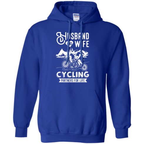 image 228 490x490px Husband and Wife Cycling Partners For Life T Shirt