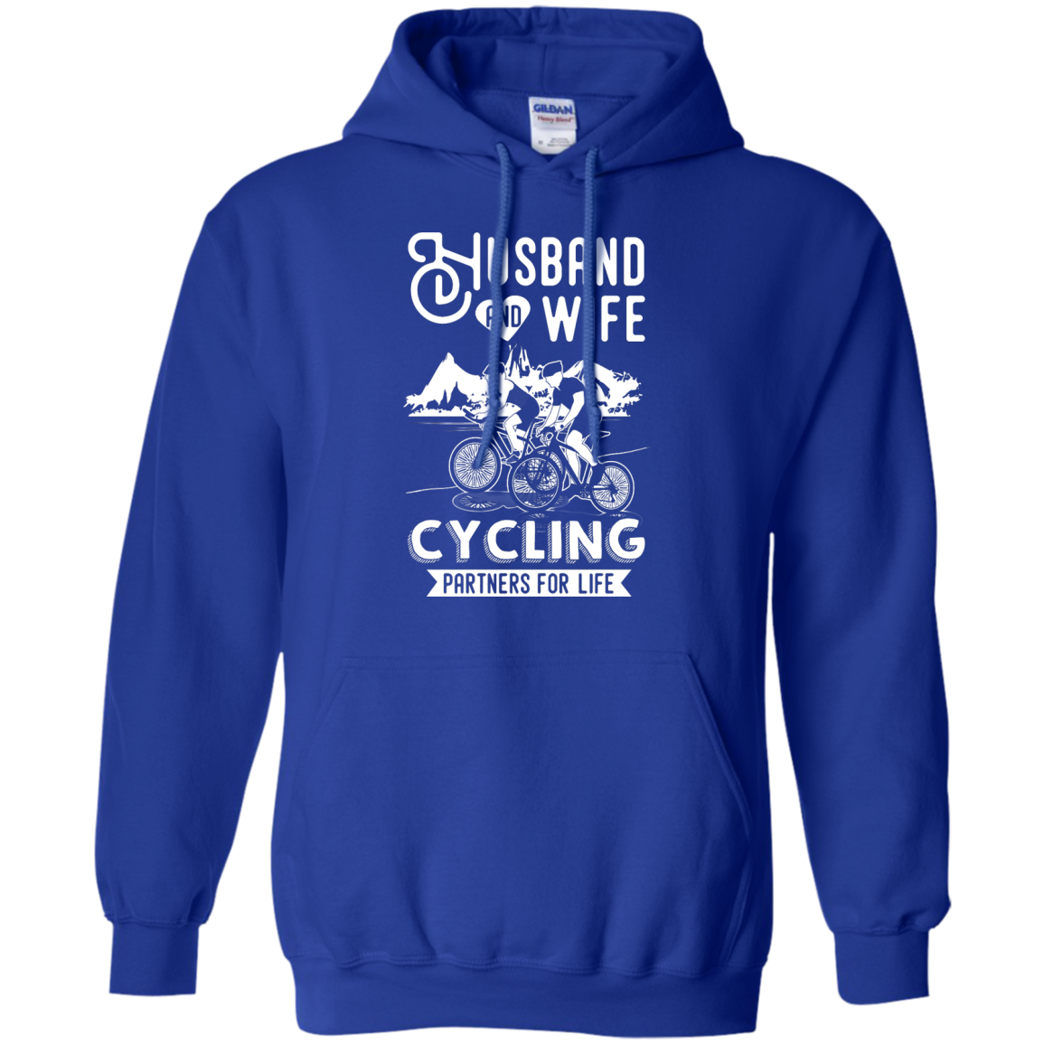 image 228px Husband and Wife Cycling Partners For Life T Shirt