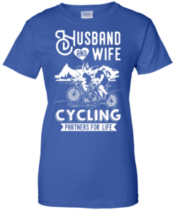 image 230 247x296px Husband and Wife Cycling Partners For Life T Shirt