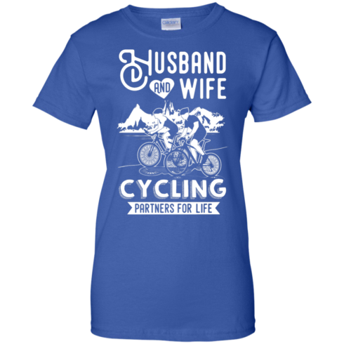 image 230 490x490px Husband and Wife Cycling Partners For Life T Shirt