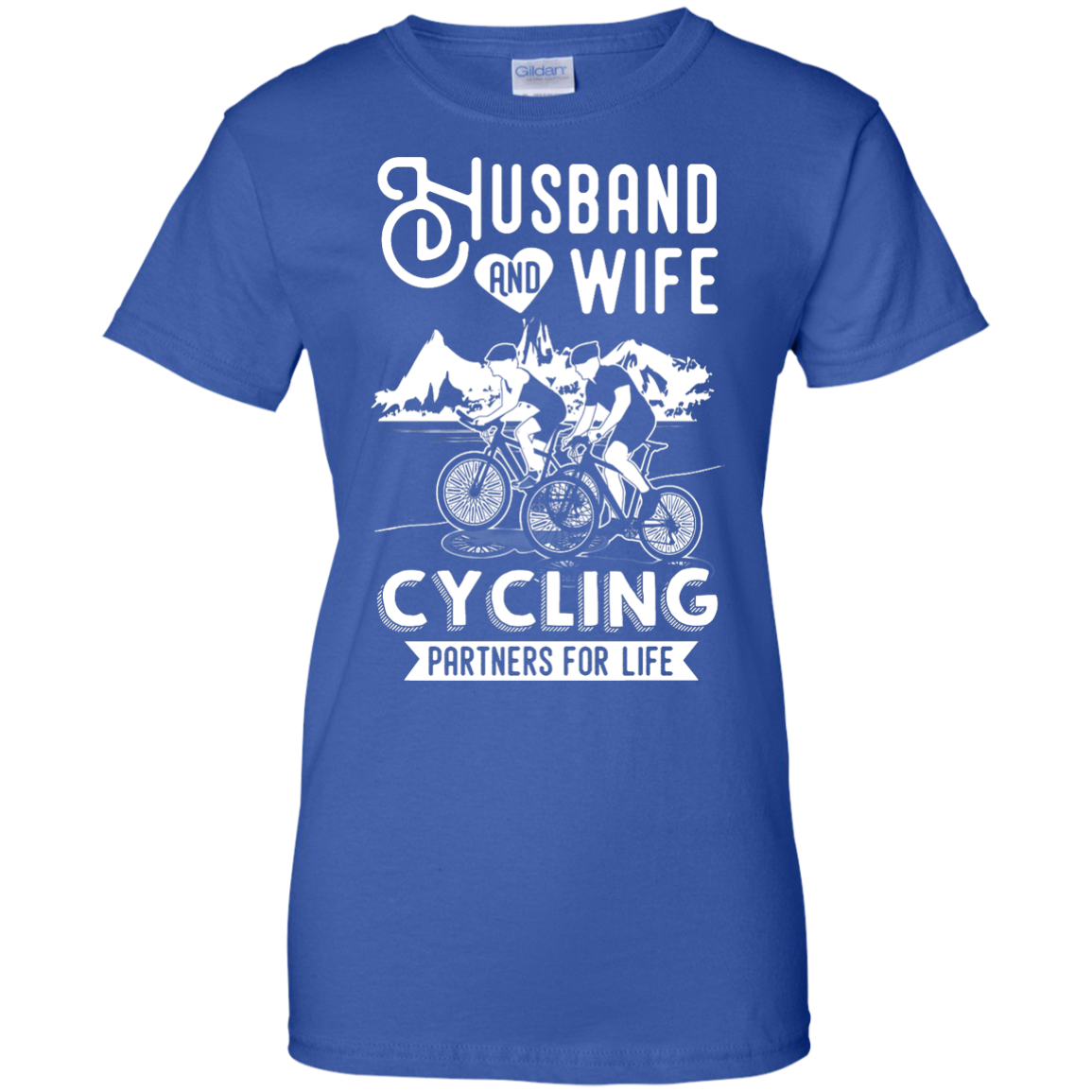 image 230px Husband and Wife Cycling Partners For Life T Shirt