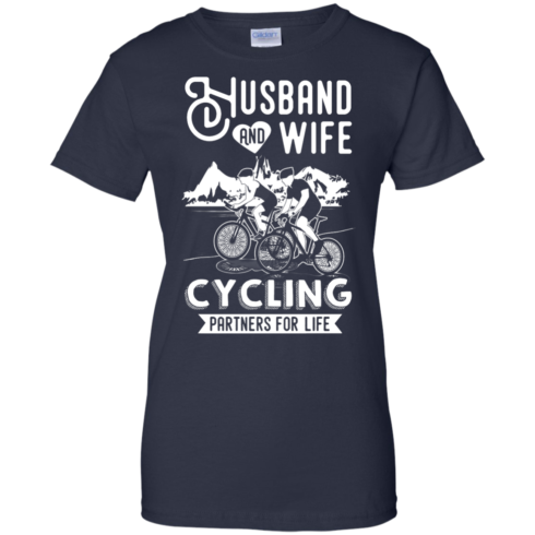 image 231 490x490px Husband and Wife Cycling Partners For Life T Shirt