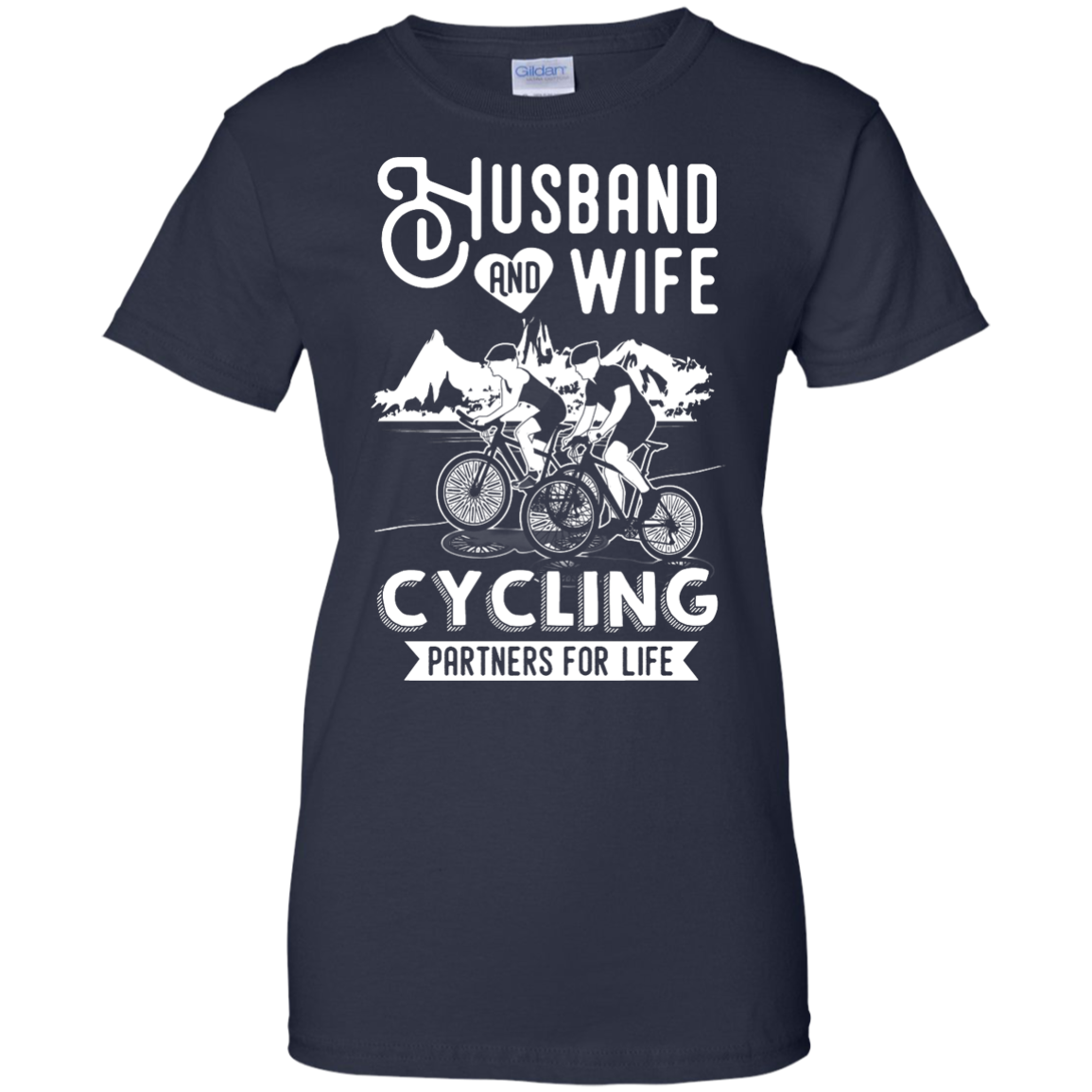 image 231px Husband and Wife Cycling Partners For Life T Shirt