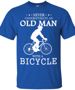 image 260 247x296px Cycling T shirt: Never underestimate an old man with a bicycle