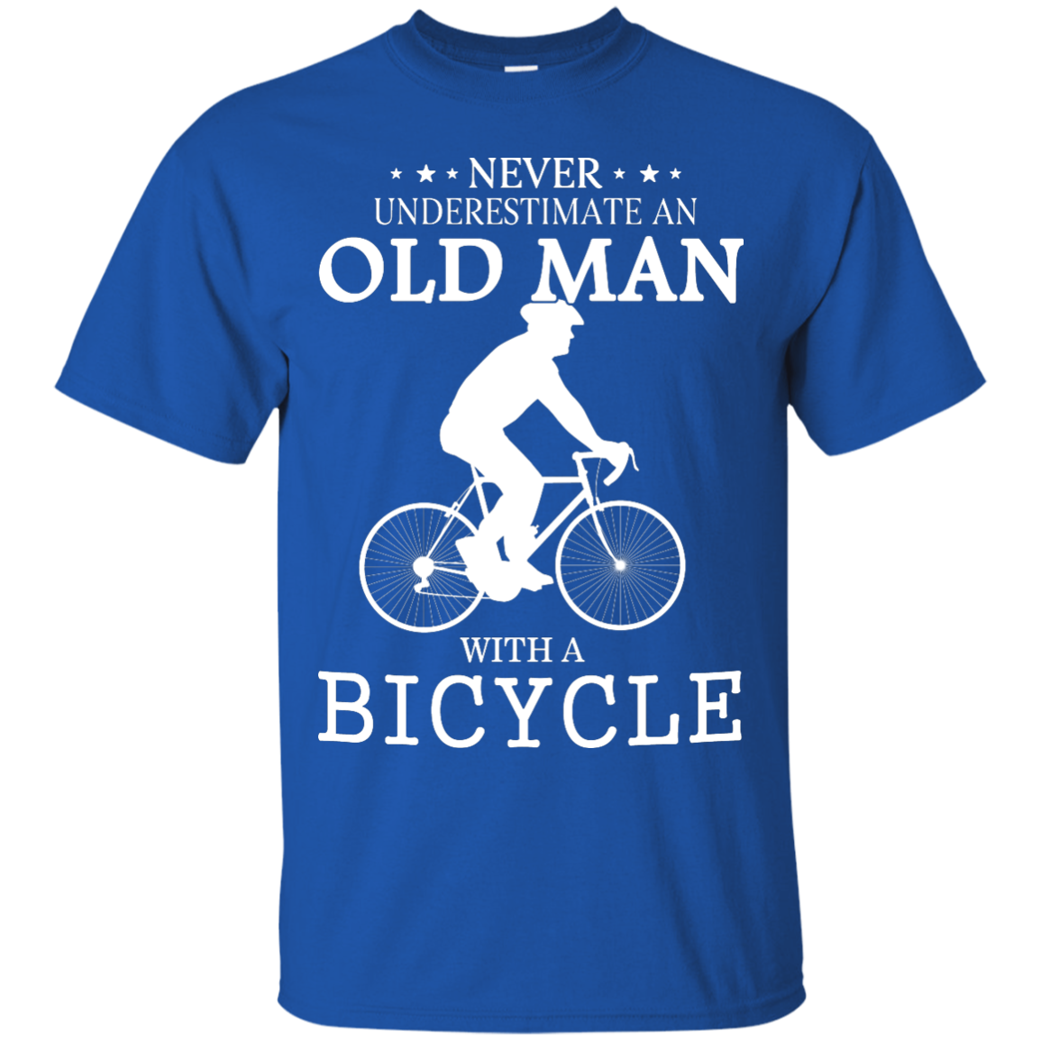 image 260px Cycling T shirt: Never underestimate an old man with a bicycle