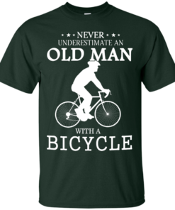 image 262 247x296px Cycling T shirt: Never underestimate an old man with a bicycle
