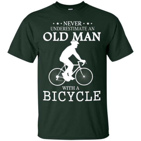 image 262 490x490px Cycling T shirt: Never underestimate an old man with a bicycle