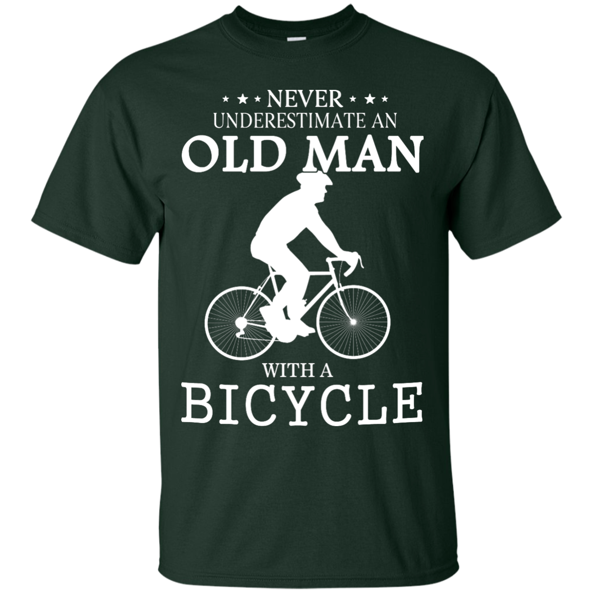 image 262px Cycling T shirt: Never underestimate an old man with a bicycle