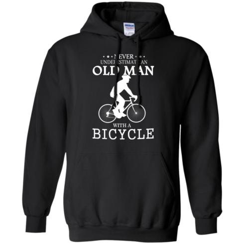 image 263 490x490px Cycling T shirt: Never underestimate an old man with a bicycle