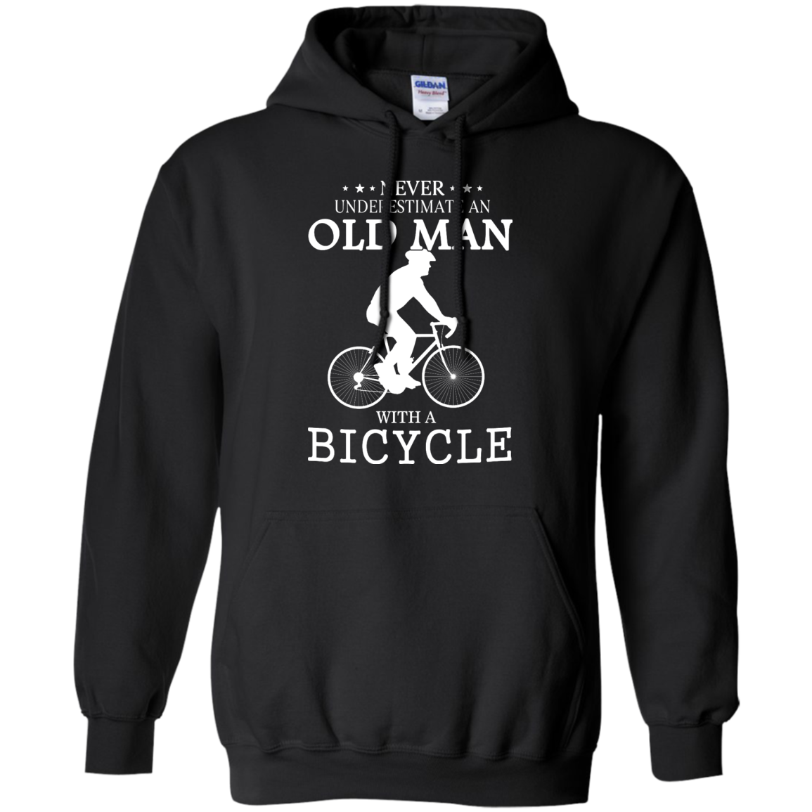 image 263px Cycling T shirt: Never underestimate an old man with a bicycle