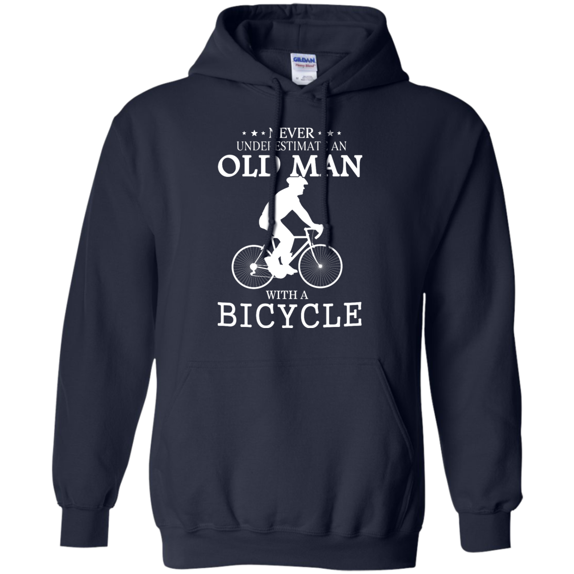 image 264px Cycling T shirt: Never underestimate an old man with a bicycle