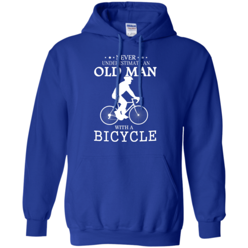 image 265 490x490px Cycling T shirt: Never underestimate an old man with a bicycle