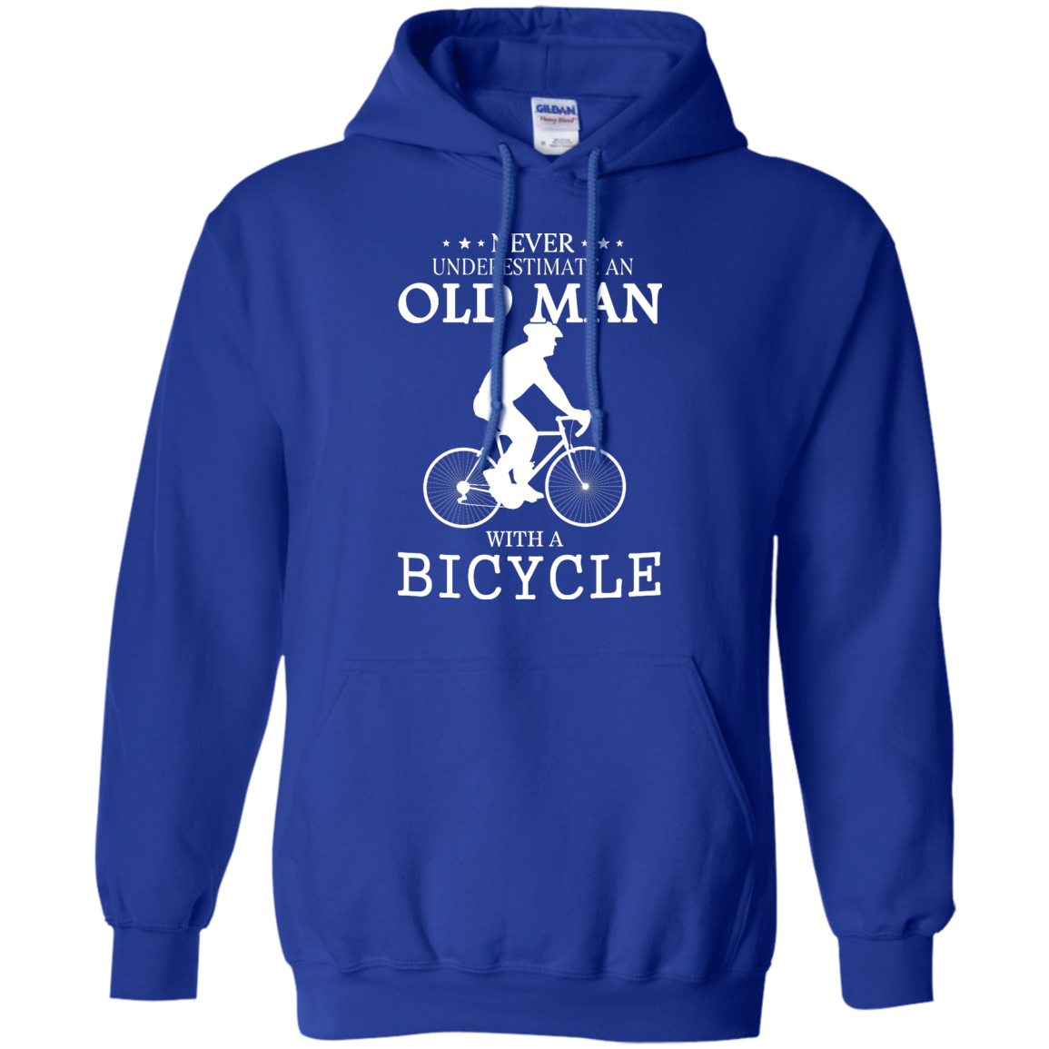 image 265px Cycling T shirt: Never underestimate an old man with a bicycle