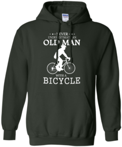 image 266 247x296px Cycling T shirt: Never underestimate an old man with a bicycle