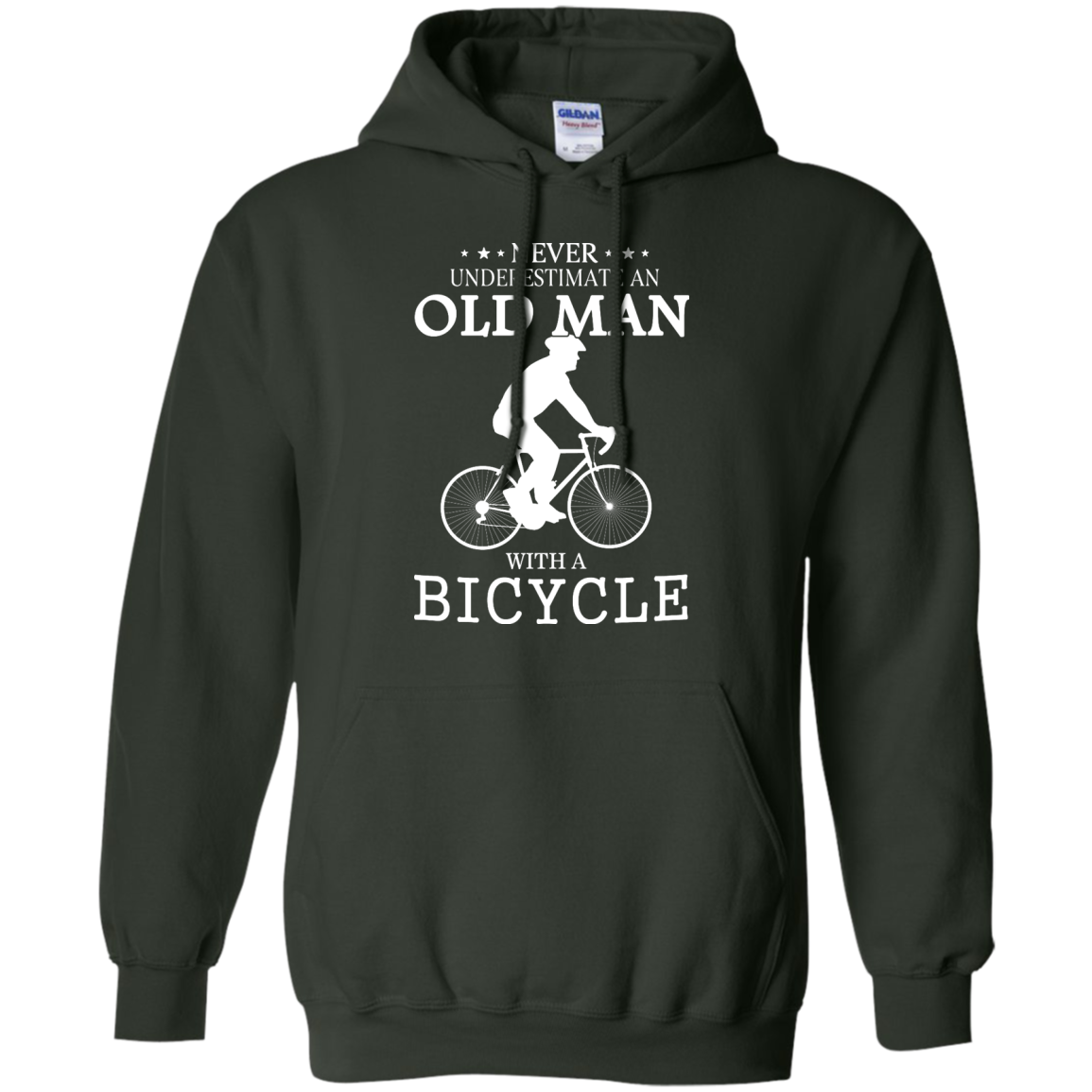 image 266px Cycling T shirt: Never underestimate an old man with a bicycle