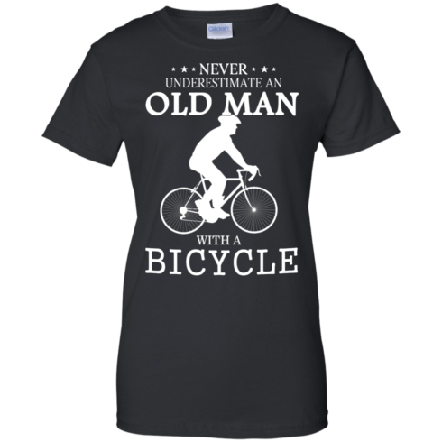 image 267 490x490px Cycling T shirt: Never underestimate an old man with a bicycle