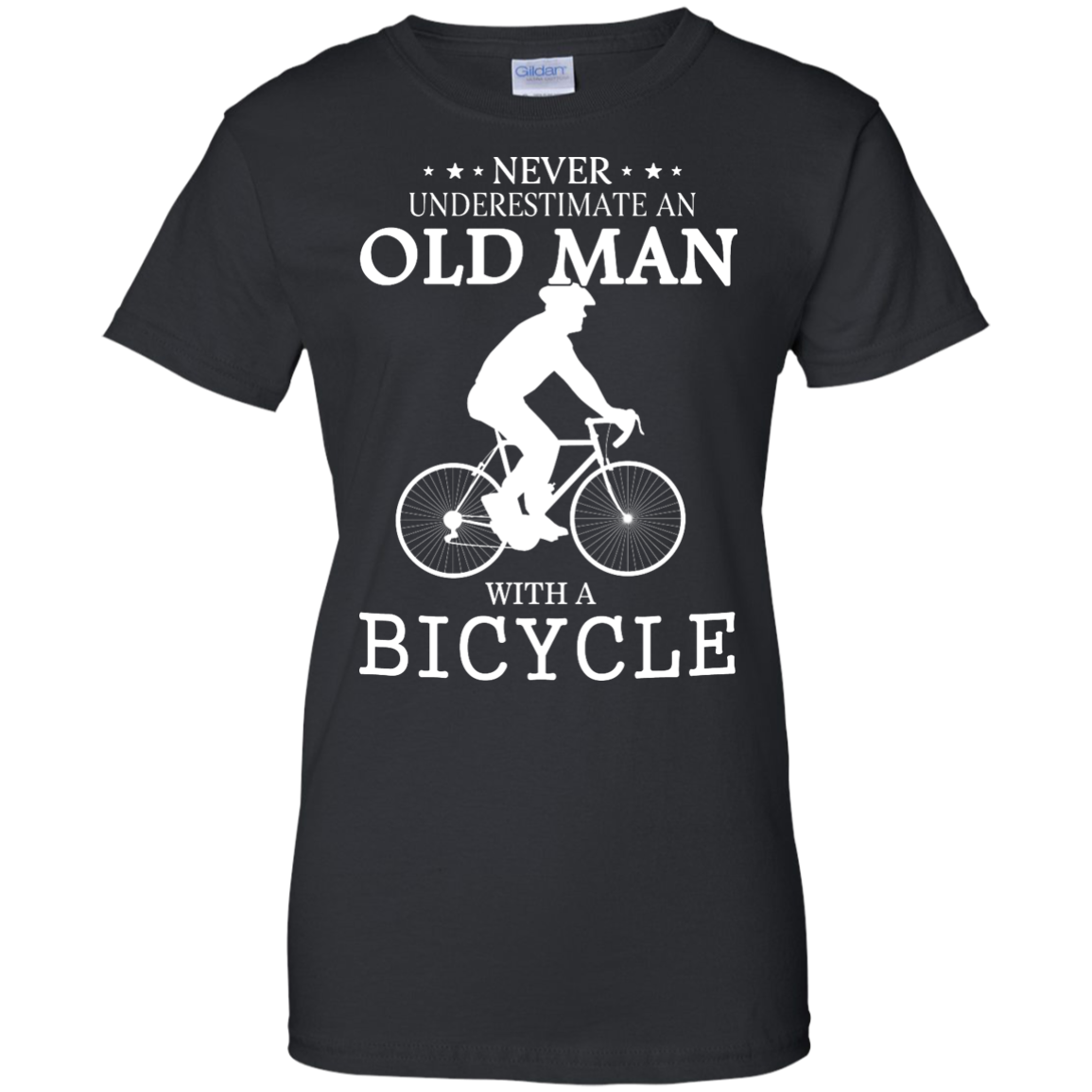 image 267px Cycling T shirt: Never underestimate an old man with a bicycle