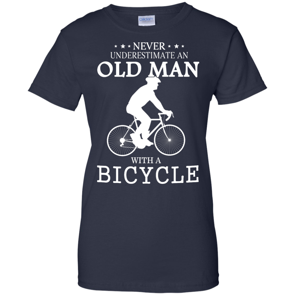 image 268px Cycling T shirt: Never underestimate an old man with a bicycle