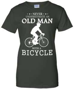 image 269 247x296px Cycling T shirt: Never underestimate an old man with a bicycle