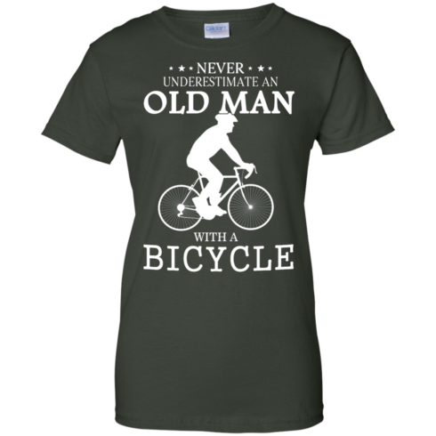 image 269 490x490px Cycling T shirt: Never underestimate an old man with a bicycle