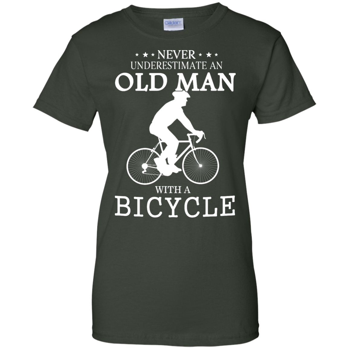image 269px Cycling T shirt: Never underestimate an old man with a bicycle