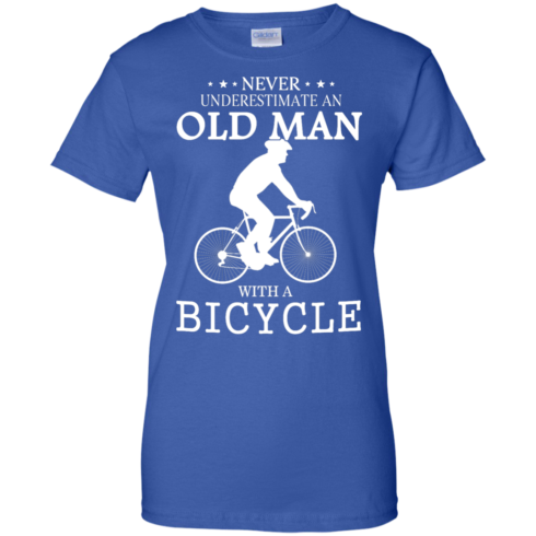 image 270 490x490px Cycling T shirt: Never underestimate an old man with a bicycle