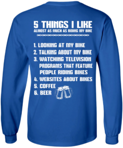 image 330 247x296px 5 Things I Like Almost As Much As Riding My Bike T Shirt