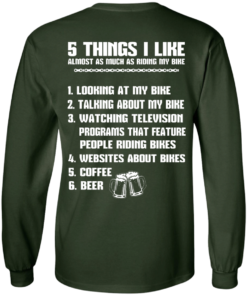 image 331 247x296px 5 Things I Like Almost As Much As Riding My Bike T Shirt