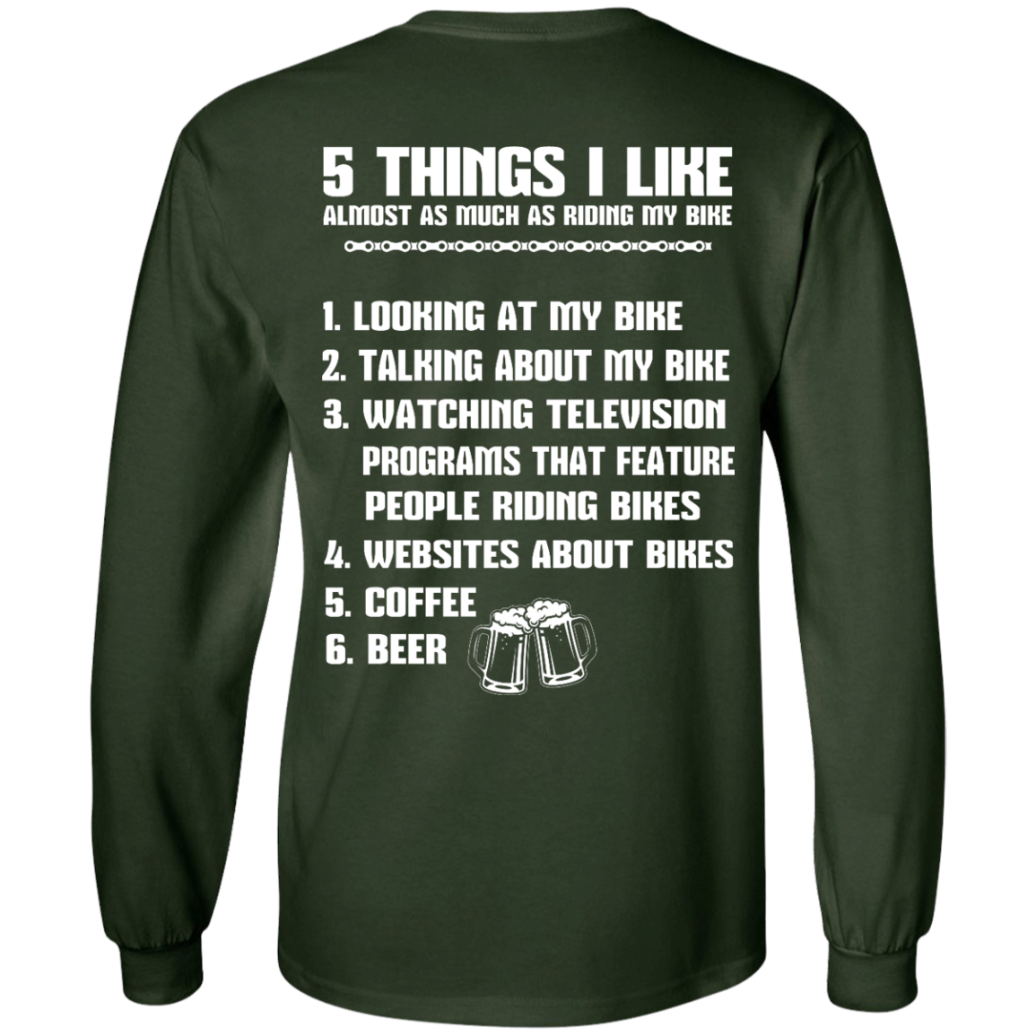 image 331px 5 Things I Like Almost As Much As Riding My Bike T Shirt