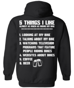 image 332 247x296px 5 Things I Like Almost As Much As Riding My Bike T Shirt