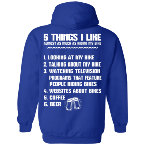image 333 490x490px 5 Things I Like Almost As Much As Riding My Bike T Shirt