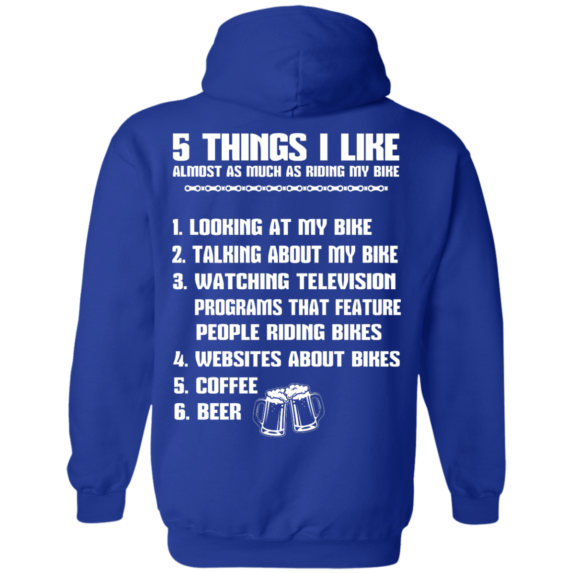 image 333px 5 Things I Like Almost As Much As Riding My Bike T Shirt